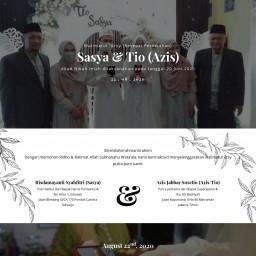 Resepsi Pernikahan Sasya & Tio(Azis)