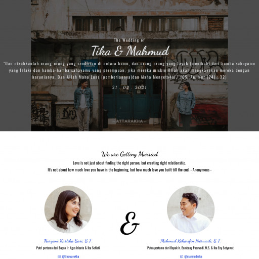 The Wedding of Tika & Mahmud