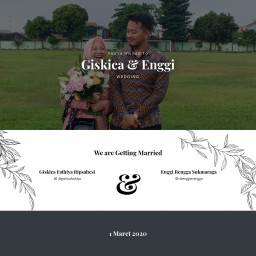 You're Invited To Giskica & Enggi Wedding