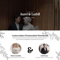 Undangan Pernikahan Aurel & Luthfi