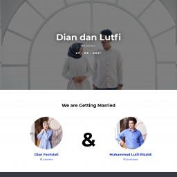 Dian Fachriati dan Muhammad Lutfi Rizaldi Wedding